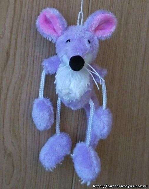 Выкройка игрушки - крысы:фотография
