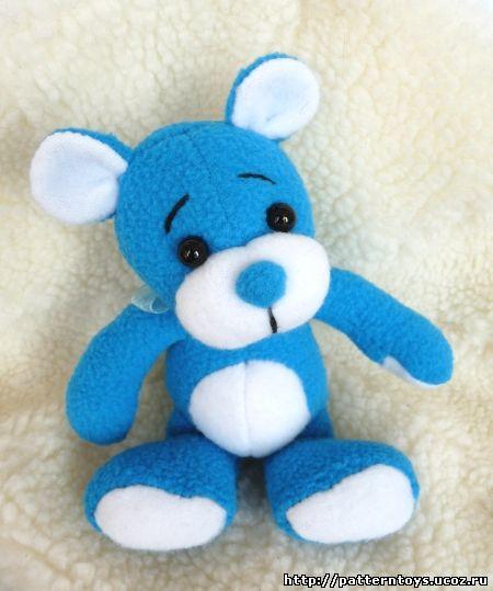Выкройка мягкой игрушки. Выкройка медведя.
