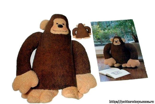 Выкройка мягкой игрушки - обезьяна: фото