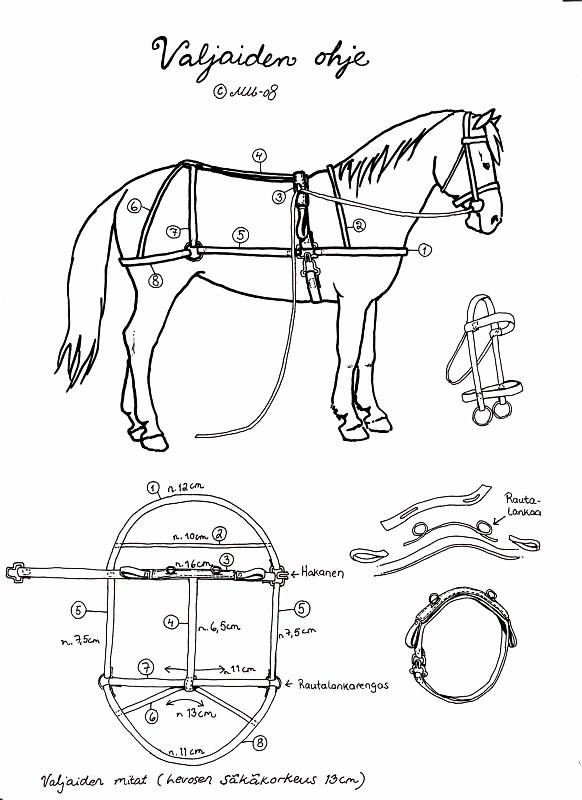 Лошадь с выкройкой